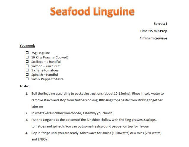 Quick Lunch: Seafood Linguine
